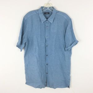 Theory | Blue Hyrdo Linen Shirt - A25